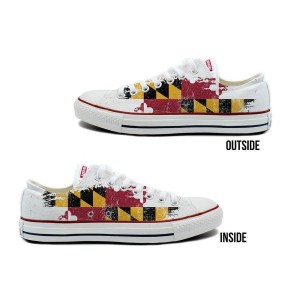 Maryland Flag Converse All-Star Low Top