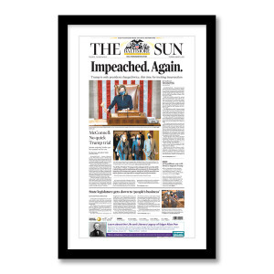 """""""Impeached. Again."""" 1/14/2021 Page Print"""