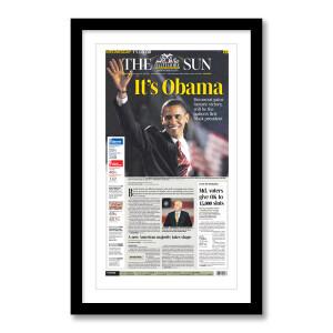 """It's Obama"" 11/5/2008 Page Print"