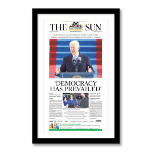 """""""'Democracy Has Prevailed'"""" 1/21/2021 Page Print"""