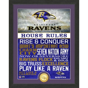 Baltimore Ravens House Rules Bronze Coin Photo Mint