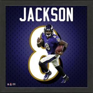 Lamar Jackson Impact Jersey Frame
