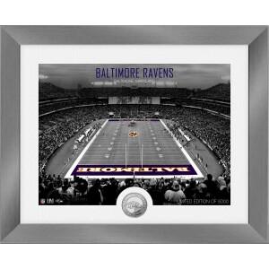 Baltimore Ravens Art Deco Stadium Silver Coin Photo Mint