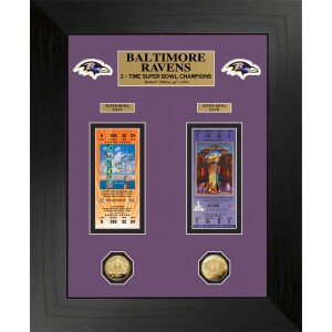 Baltimore Ravens Super Bowl Champions Deluxe Gold Coin & Ticket Collection