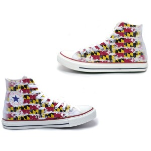 Maryland Flag Converse All-Star High Top Shoe