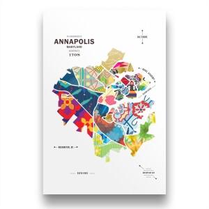 Annapolis Map Print Poster