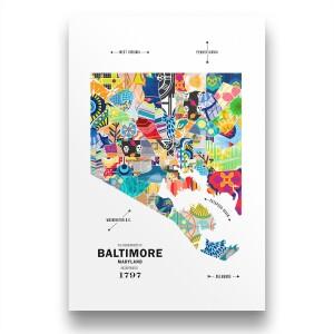 Baltimore Map Print Poster