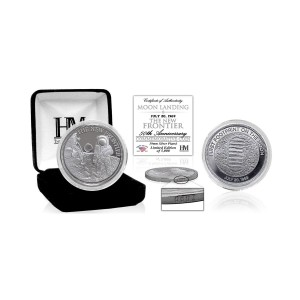 """Moon Landing """"The New Frontier"""" Silver Mint Coin"""