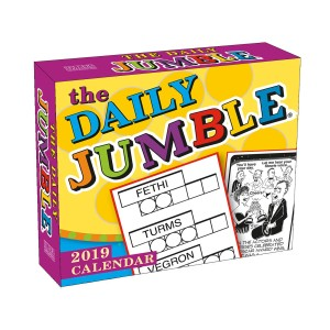 The Daily Jumble 2019 Boxed Daily Calendar