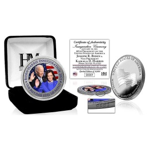Joe Biden and Kamala Harris Inauguration Color Silver Mint Coin