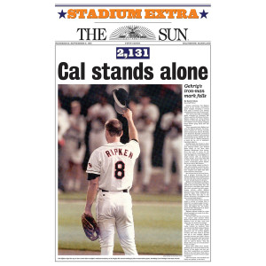 'Cal Stands Alone' Cal Ripken Poster