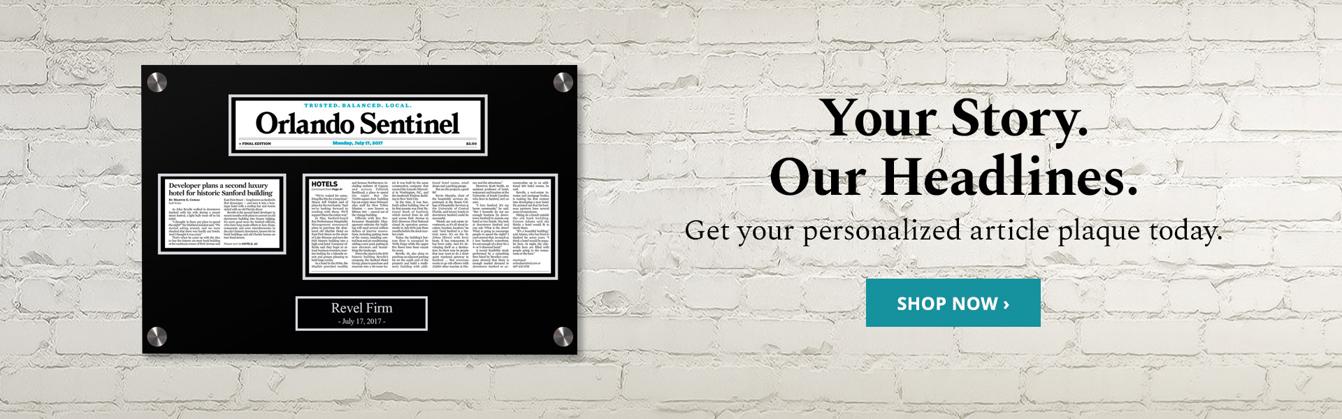 Personalized Article Plaques