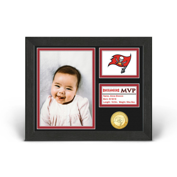 wholesale dealer 6507e 31c16 Tampa Bay Buccaneers Baby MVP Personalized Photo Frame ...