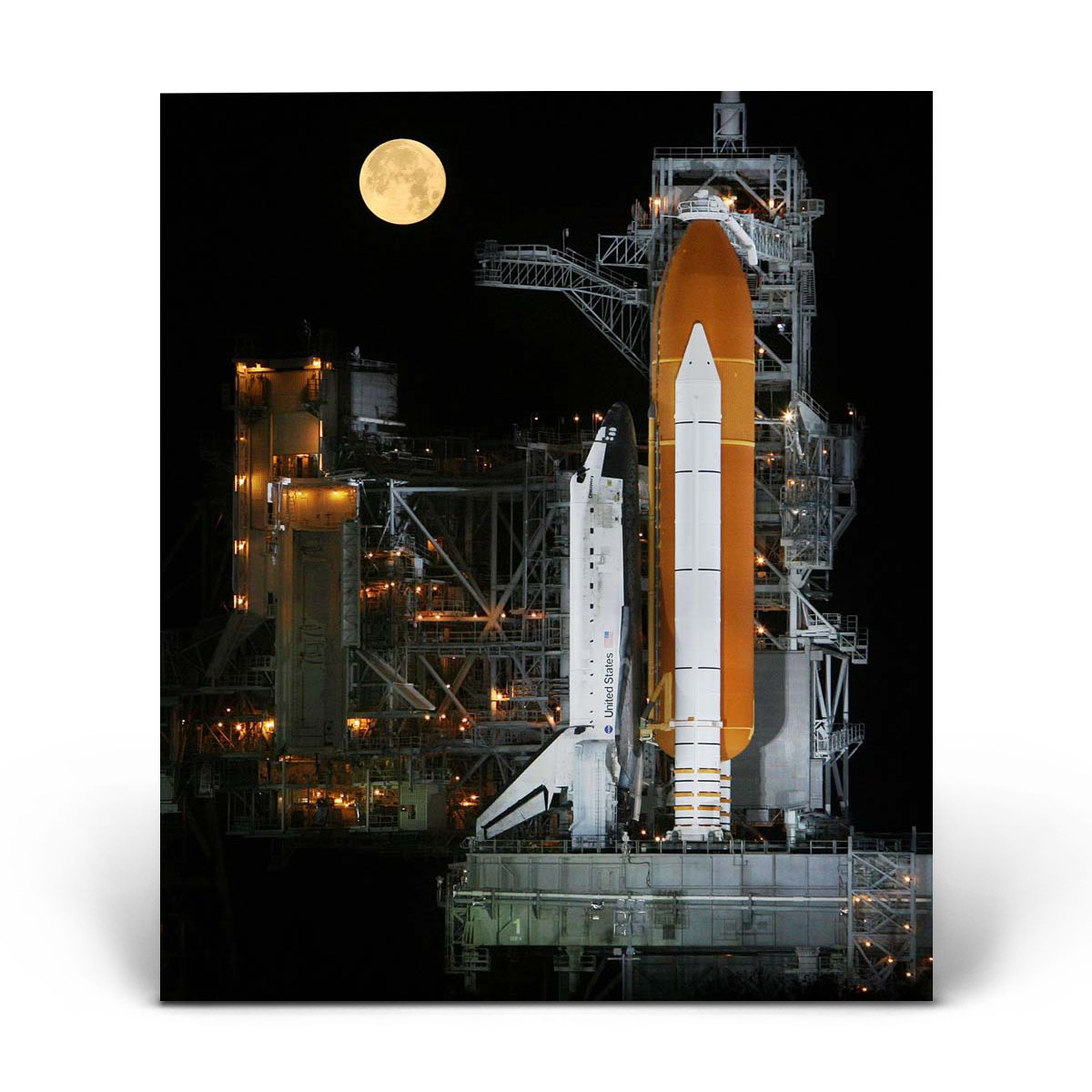 Space Shuttle: In the Moonlight