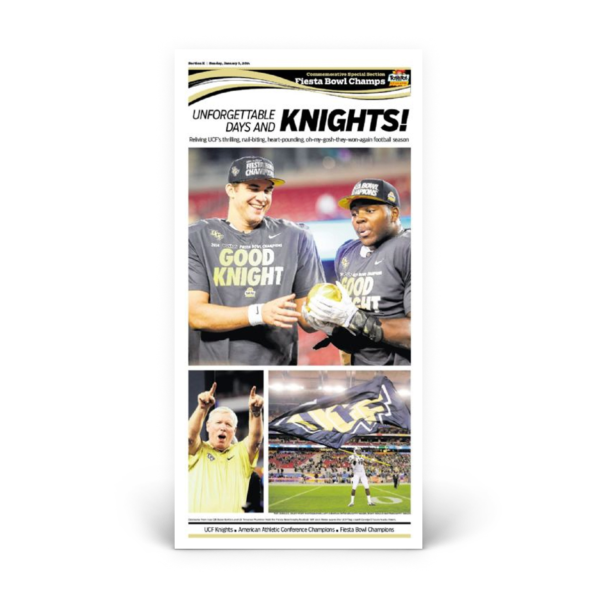 Commemorative Front Page: UCF 2014 Fiesta Bowl
