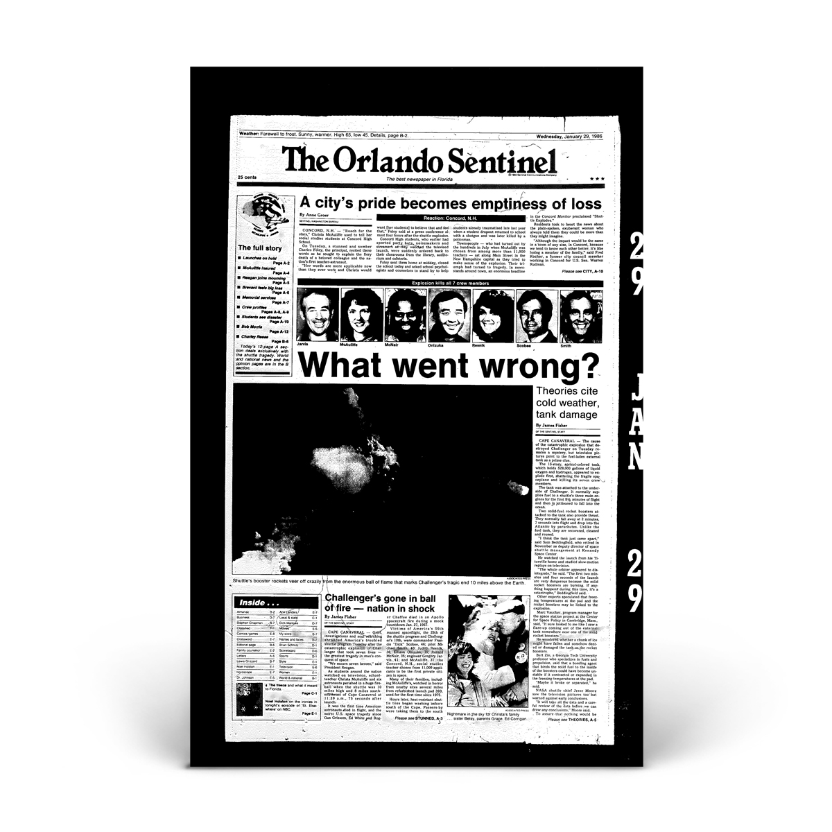 Commemorative Front Page: Challenger