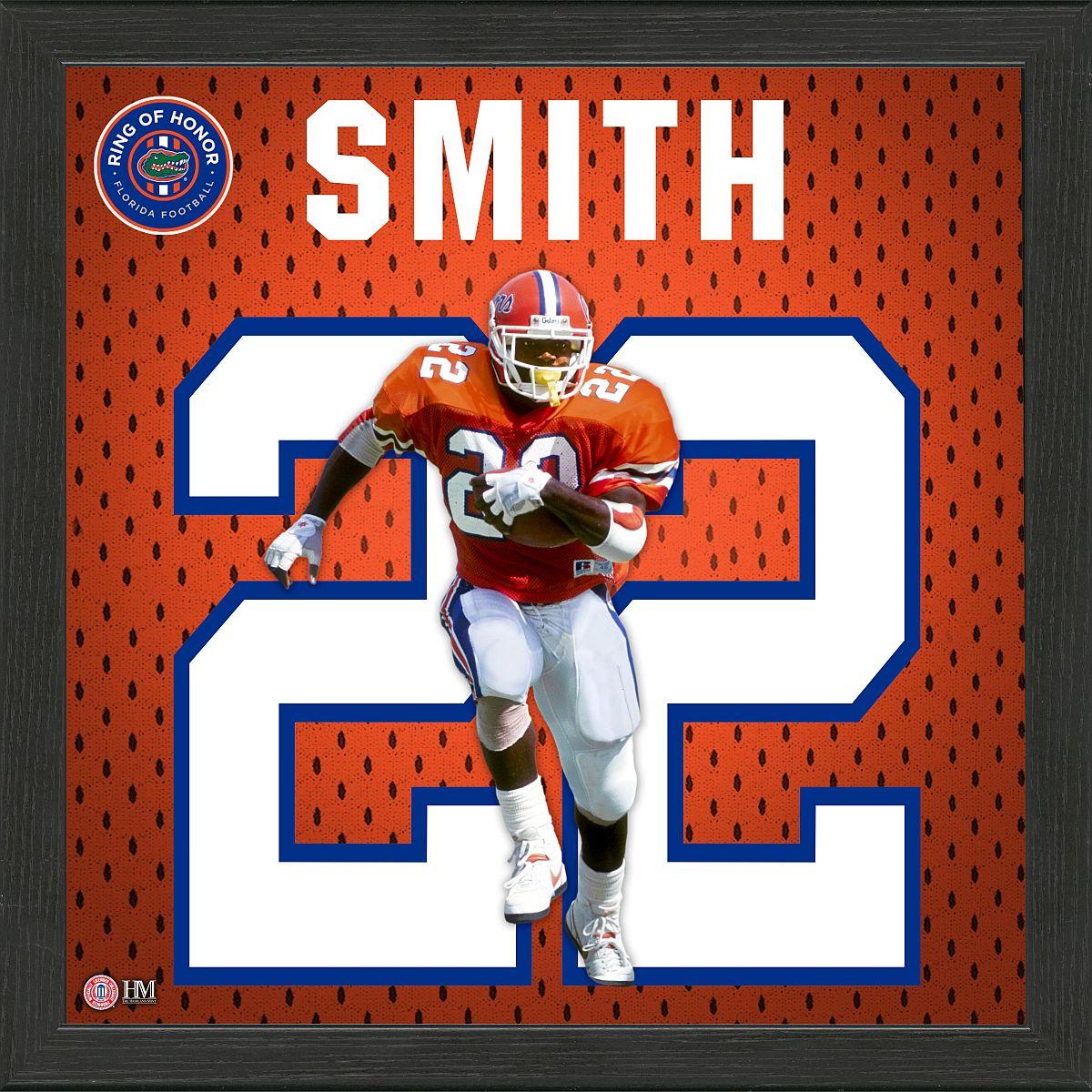 Emmitt Smith Florida Gators 2020 Ring of Honor Jersey Framed Photo