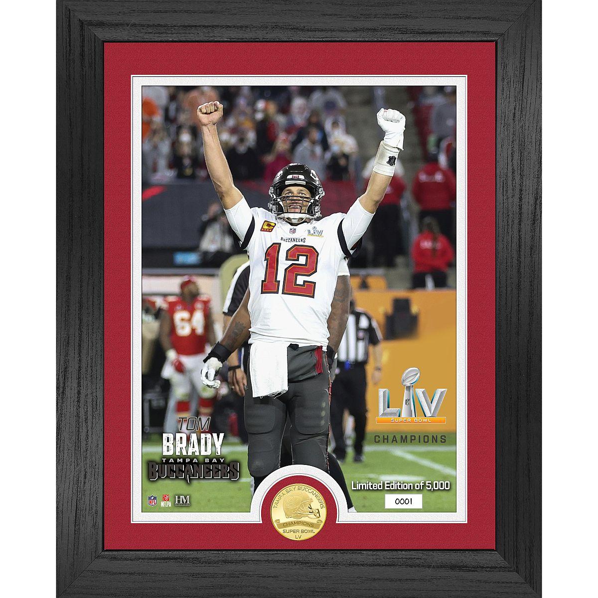 Tom Brady Super Bowl 55 Champion Bronze Coin Photo Mint