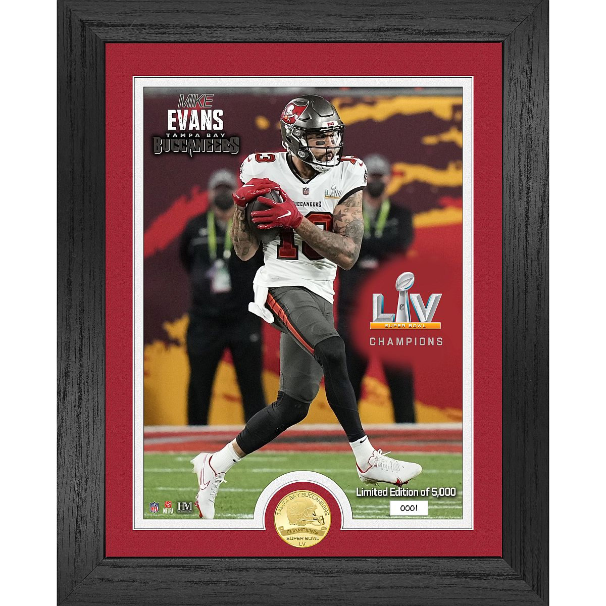 Mike Evans Super Bowl 55 Champion Bronze Coin Photo Mint