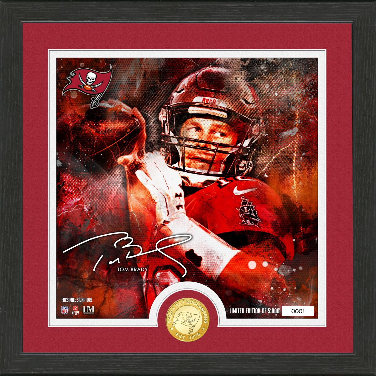 "Tom Brady ""Surge"" Bronze Coin Signature Photo Mint"