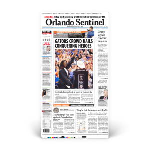 Commemorative Front Page: Gator Champions