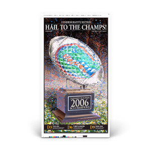 "Commemorative Front Page: Gators ""Hail to the Champs!"""