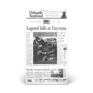 Commemorative Front Page: Dale Earnhardt Daytona