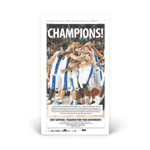 Commemorative Front Page: FL Gators 'CHAMPIONS!'