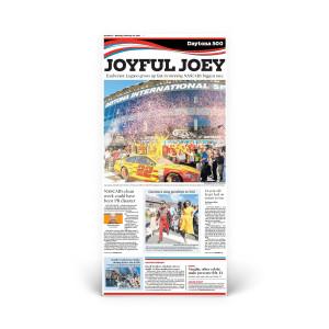 Daytona 500: 2015 Winner - Joey Logano Front Page Reprint