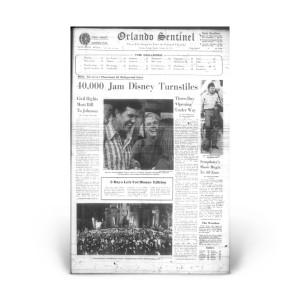Commemorative Front Page: Disney Opening