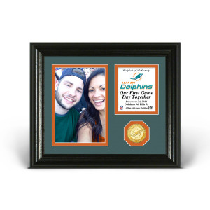 Miami Dolphins Game Day Personalized Photo Frame