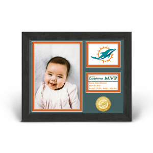 Miami Dolphins Baby MVP Personalized Photo Frame