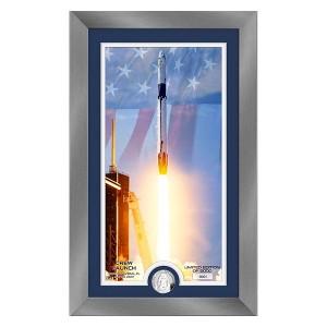 NASA Dragon Crew Launch Silver Coin Supreme Photo Mint