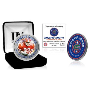 Emmitt Smith Florida Gators 2020 Ring of Honor Silver Mint Coin