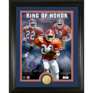 Emmitt Smith Florida Gators 2020 Ring of Honor Bronze Coin Photo Mint