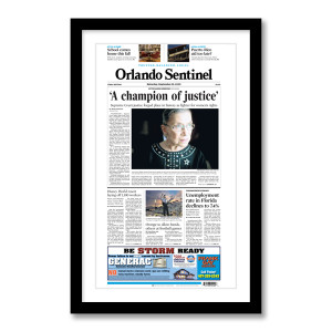 """""""'A champion of justice'"""" 9/19/20 Page Print"""