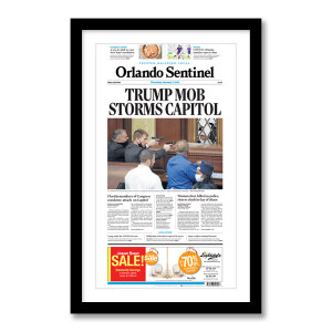 """Trump Mob Storms Capitol"" 1/7/2021 Page Print"
