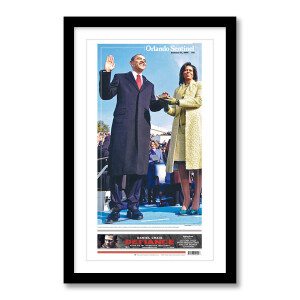 Barack Obama Inauguration 1/21/2009 Page Print