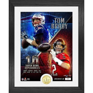 Tom Brady 10 Super Bowls Bronze Coin Photo Mint