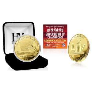 Tampa Bay Buccaneers Super Bowl 55 Champions Gold Mint Coin