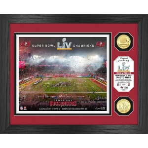 Tampa Bay Buccaneers Super Bowl 55 Champions Celebration Bronze Coin Photo Mint