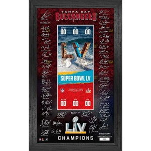 Tampa Bay Buccaneers Super Bowl 55 Champs Signature Ticket