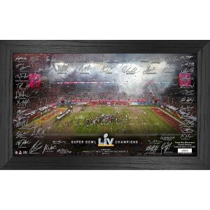 Tampa Bay Buccaneers Super Bowl 55 Champions Signature Celebration Frame