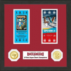 Tampa Bay Buccaneers 2-Time Super Bowl Champions Ticket Collection