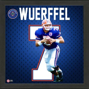 Danny Wuerffel Florida Gators 2021 Ring of Honor Jersey Framed Photo
