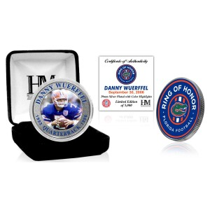 Danny Wuerffel Florida Gators 2021 Ring of Honor Silver Mint Coin