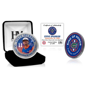 Steve Spurrier Florida Gators 2021 Ring of Honor Silver Mint Coin