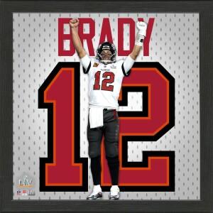 Tom Brady Super Bowl 55 Champions Impact Jersey Frame