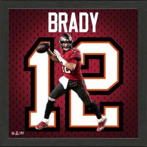 Tom Brady Impact Jersey Frame