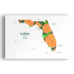 Florida Map Print Poster